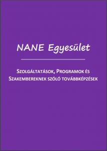 NANE Egyesület szolgáltatásait összefoglaló kiadvány linkje